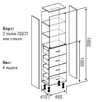Схема медицинского шкафа