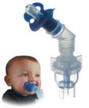 Небулайзер (распылитель) VixOne для малышей в комплекте с соской Pedi-Neb, 45о-градусным переходником и кислородным шлангом