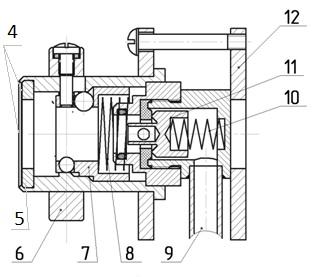Схема газового клапана СКБ-1