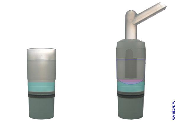 Схема использования стаканчика для лекарств в ингаляторе Муссон-2-03