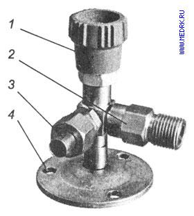Схематическое изображение запорного клапана К-2102-16 (ВКм-У)