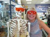 Фантом человеческого скелета, увеличить фото