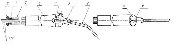 Схематическое изображение стоматологического пистолета ПС-ТЕХ