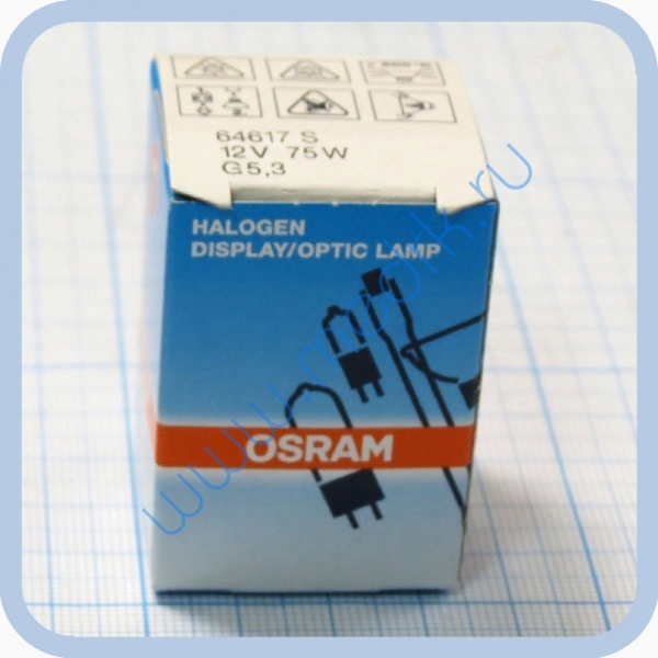 Лампа галогенная (галогеновая) Osram 64617 12V 75W G5,3-4,8  Вид 1