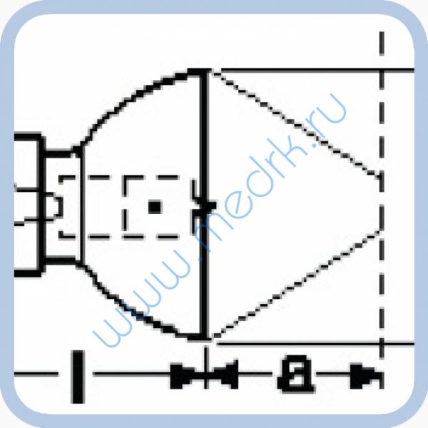 Лампа галогенная (галогеновая) Osram 64255 8V 20W GZX4  Вид 1