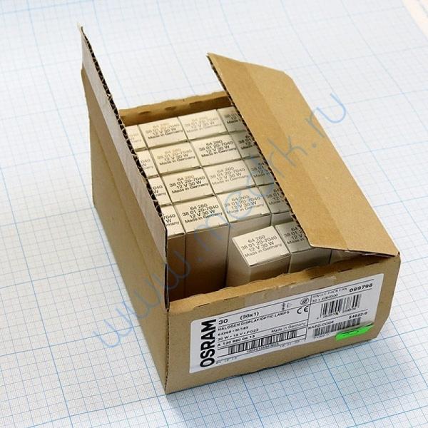 Лампа галогенная (галогеновая) Osram 64260 12V 30W PG22  Вид 1