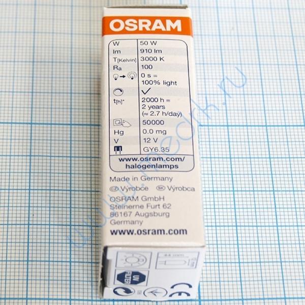 Лампа галогенная (галогеновая) Osram 64440 12V 50W GY6,35  Вид 2
