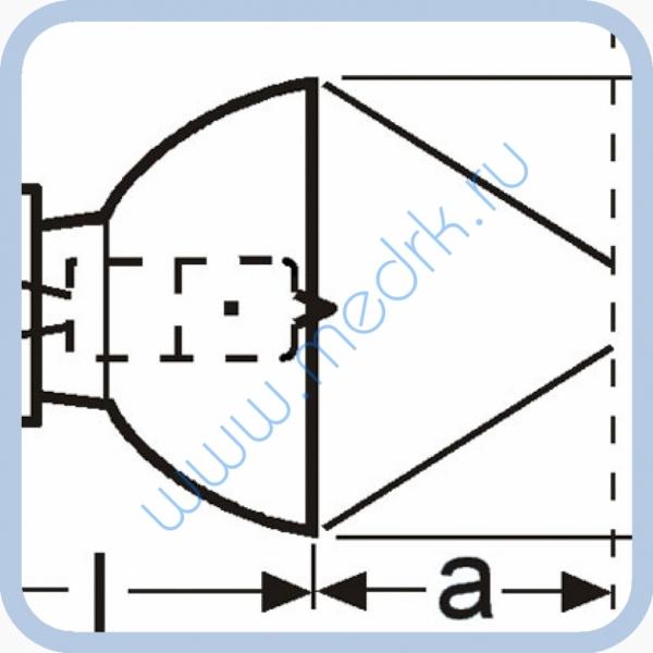 Лампа галогенная (галогеновая) Osram 64613 12V 75W G5,3-4,8  Вид 2