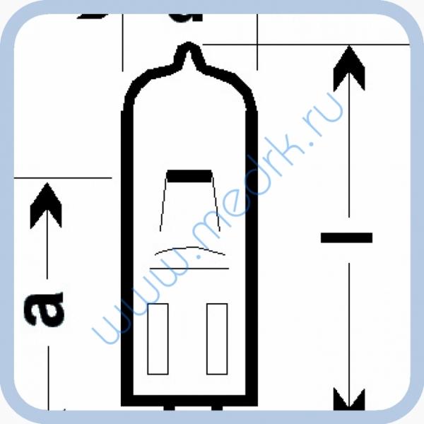 Лампа галогенная (галогеновая) Osram HLX 64638 24V 100W G6,35  Вид 8