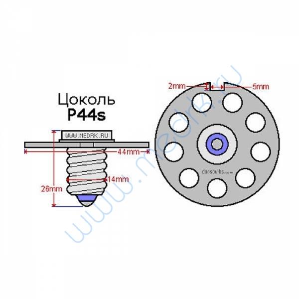 Лампа накаливания HOSOBUCHI OP-2366 6V 4,5A 27W P44s  Вид 3