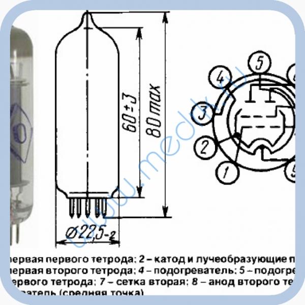 Радиолампа гу 17 схема