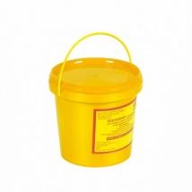 Емкость для сбора колюще-режущих медицинских отходов 1 литр (желтый)
