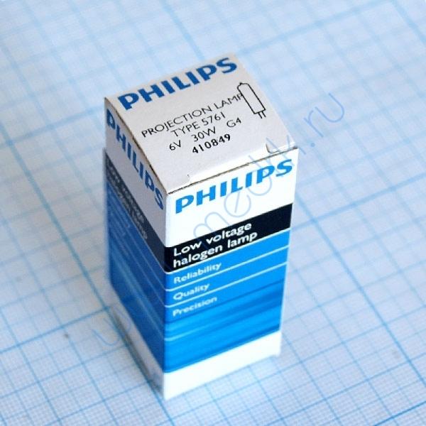 Лампа Philips 5761 6V 30W G4  Вид 1