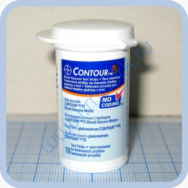 Тест-полоски для глюкометра Bayer Contour TS  Вид 1