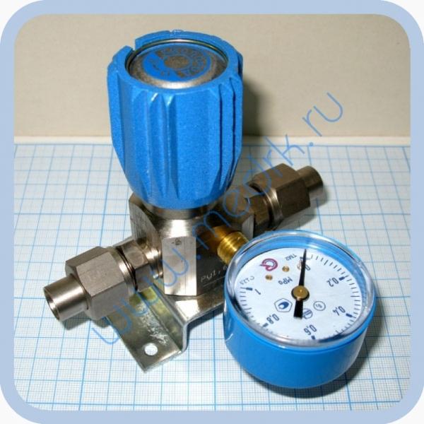 Вентиль магистральный с манометром ВМ-06 (клапан запорный К-1104-16) для кислорода и др. газов