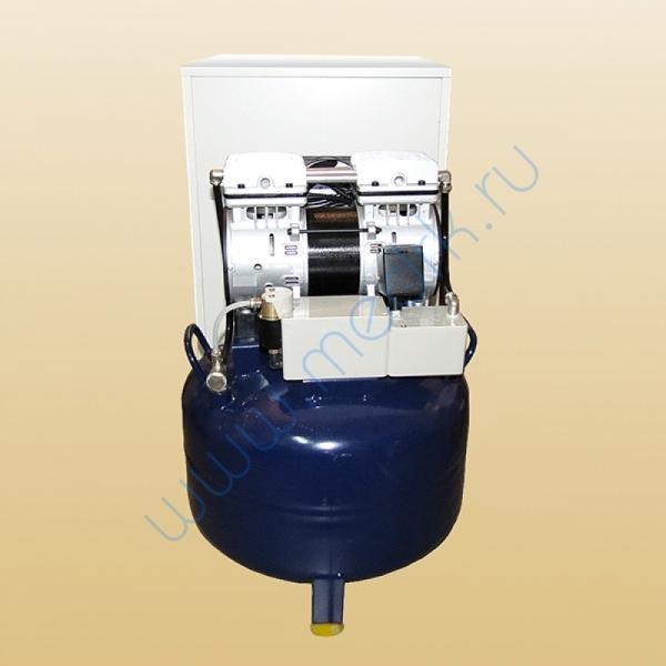 Компрессор стоматологический воздушный 70л КС-60-01 в звукоизолирующей тумбе  Вид 3