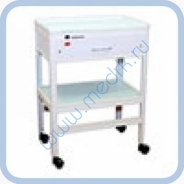 Стол стоматологический ССБ-1 (21401) с одним ящиком и УФ-бактерицидным облучателем   Вид 1