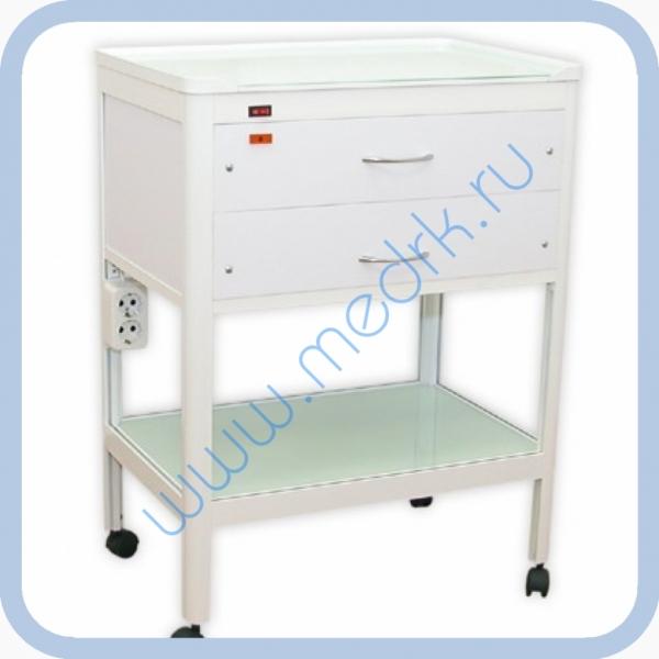 Стол стоматологический с 2 ящиками (один - с УФ-облучателем)  Вид 1