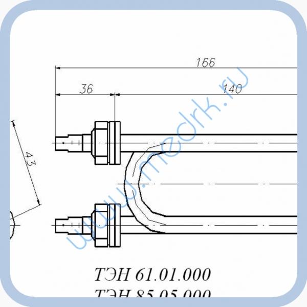 ТЭН 61.01.000 (1,5кВт, 220В, н/сталь, вода)  Вид 1