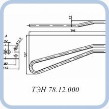 ТЭН 78.12.000 (2кВт, 220В, медь, вода)