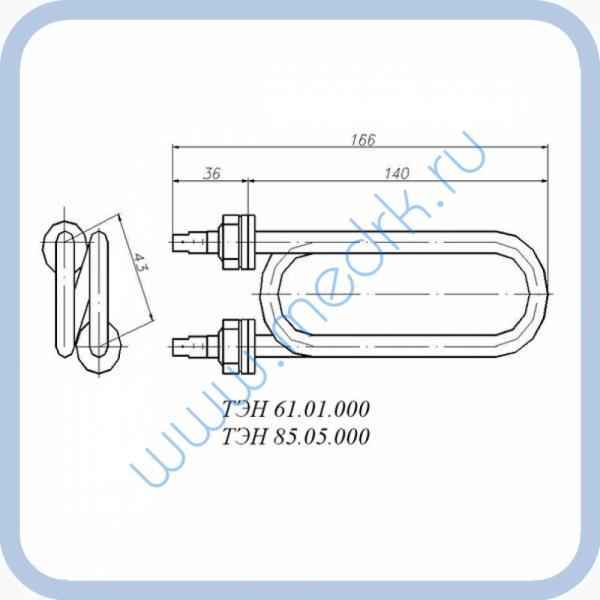 ТЭН 85.05.000 (2кВт, 220В, н/сталь, вода)