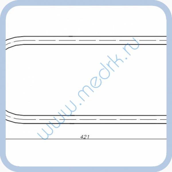 ТЭН 85.19.000 (0,8кВт, 220В, н/сталь, воздух)  Вид 1