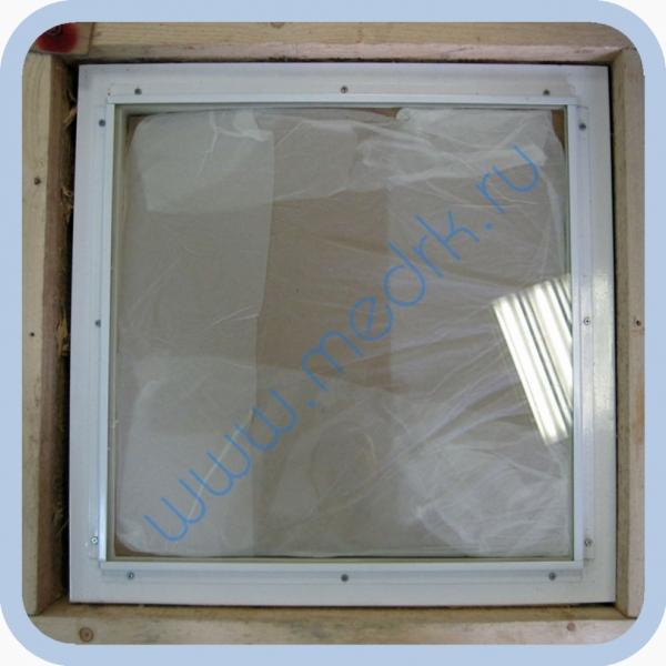 Окно рентгенозащитное со стеклом ТФ-5 400х400х10 мм  Вид 1
