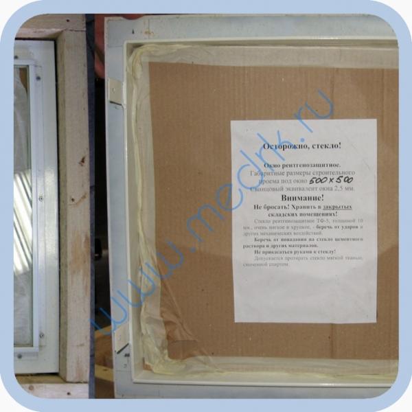 Окно рентгенозащитное со стеклом ТФ-5 400х400х10 мм  Вид 2