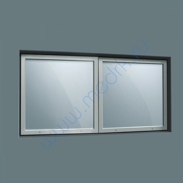 Окно рентгенозащитное составное 500х1000х10мм  Вид 1