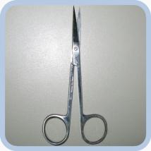 Ножницы остроконечные прямые 115 мм single use
