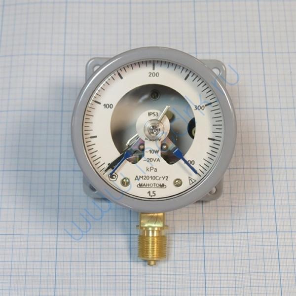 Манометр ДМ-2010 СгУ2 (0-400кПа) с фланцем исп. 5  Вид 7