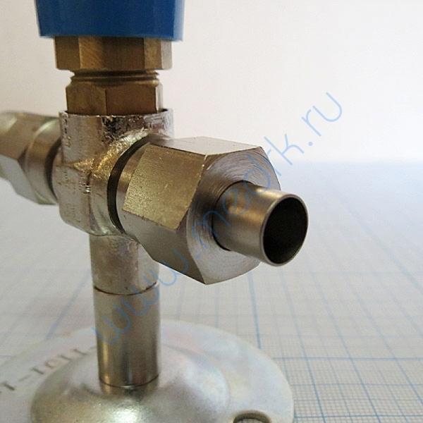 Вентиль кислородный медицинский ВКм (клапан запорный К-1101-16)  Вид 9