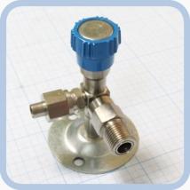 Клапан запорный К-2102-16-00 левый (вентиль игольчатый)