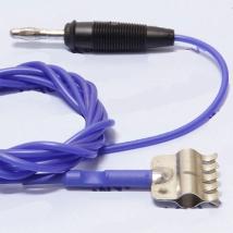 Кабель 1-контактный силиконовый синий для аппаратов электротерапии