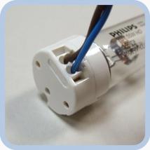 Патрон для люминесцентных ламп с цоколем G13
