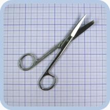 Ножницы с 1 о/к прямые, 14,5 см J-22-012 (Surgicon)
