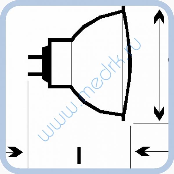 Лампа галогенная (галогеновая) Osram 44870 WFL 12V 50W GU5,3  Вид 5