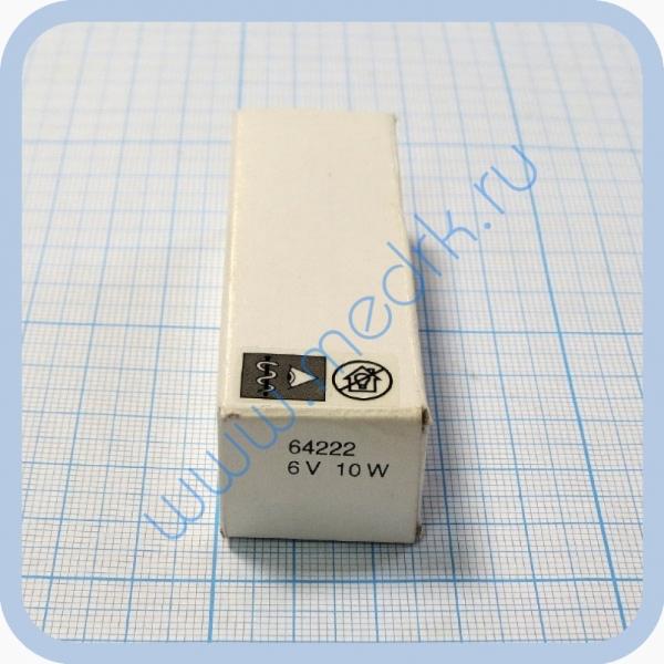 Лампа галогенная (галогеновая) Osram 64222 6V 10W PG22  Вид 1