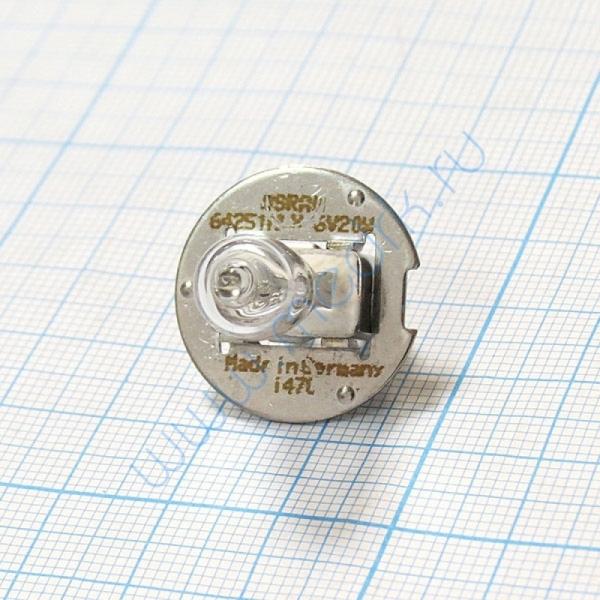 Лампа галогенная (галогеновая) Osram HLX 64251 6V 20W PG22  Вид 3