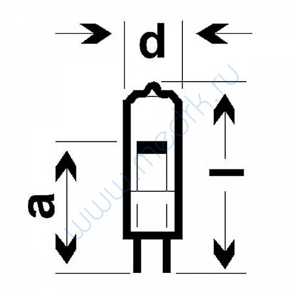 Лампа галогенная (галогеновая) Osram 64405S 12V 5W G4  Вид 1