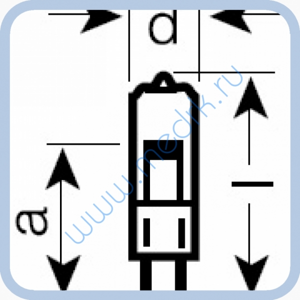 Лампа галогенная (галогеновая) Osram 64415 12V 10W G4  Вид 1