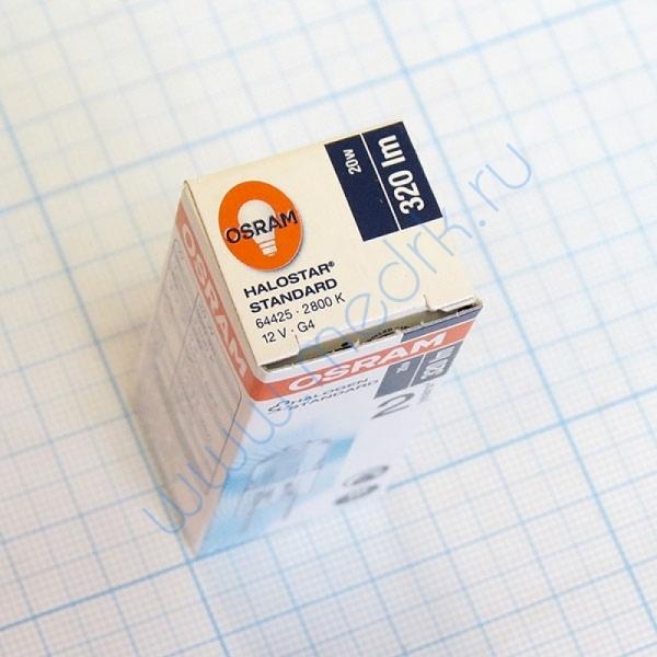 Лампа галогенная (галогеновая) Osram 64425 12V 20W G4  Вид 1
