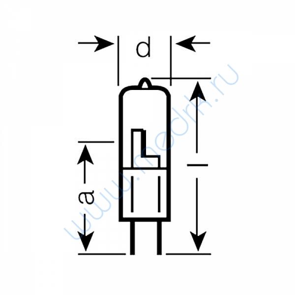 Лампа галогенная (галогеновая) Osram 64445U 24V 50W GY6,35  Вид 6