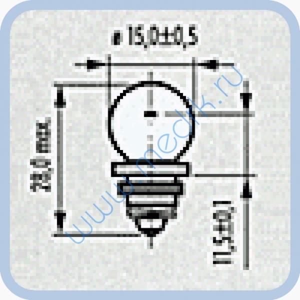Лампа Narva 67123 6V 6W Z12  Вид 2