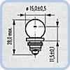 Лампа Narva 67123 6V 6W Z12
