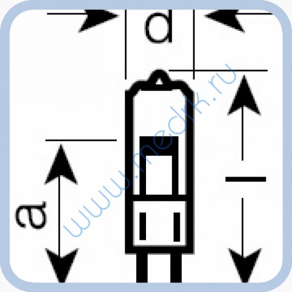 Лампа галогенная (галогеновая) Osram HLX 64611 12V 50W G6,35  Вид 2