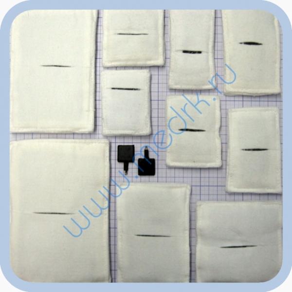 Электроды прямоугольные физиотерапевтические для электрофореза  Вид 1