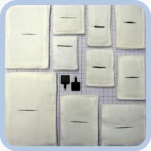 Электроды прямоугольные физиотерапевтические для электрофореза