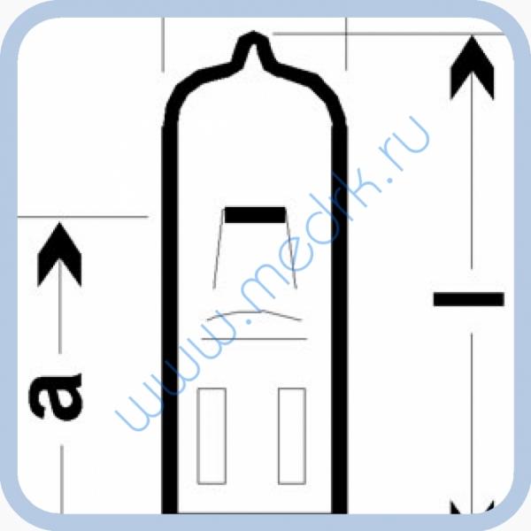 Лампа галогенная (галогеновая) Osram HLX 64610 12V 50W G6,35  Вид 1