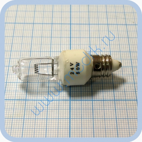 Лампа галогенная KGM 24V 50W E11 (GUERRA 6801-1)  Вид 1